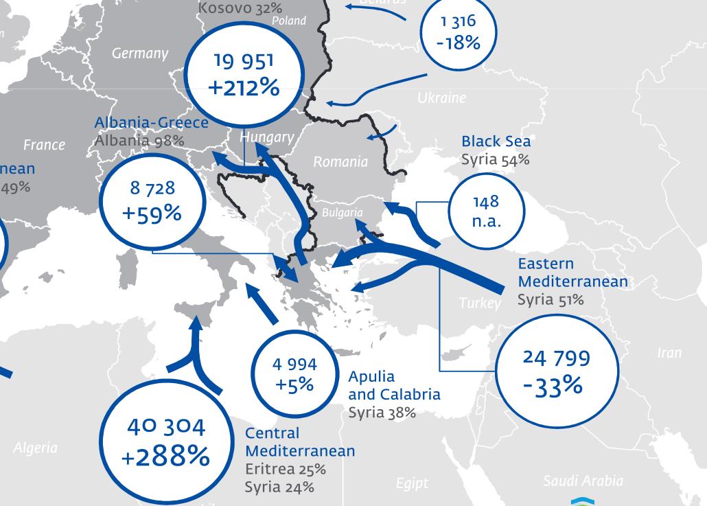 flüchtlinge in europa zahlen